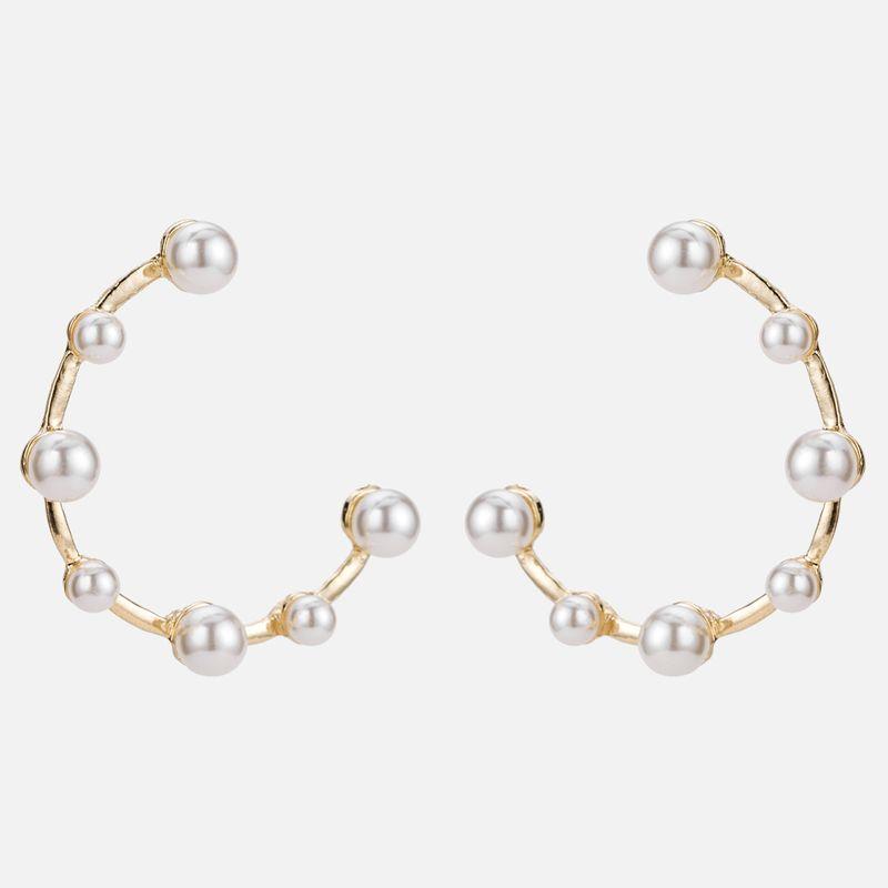 Alloy Korea Geometric earring  (Alloy) NHYT1100-Alloy