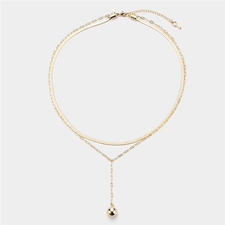 Alloy Simple Geometric necklace  (Alloy) NHYT1115-Alloy