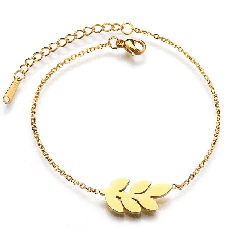 Titanium&Stainless Steel Korea Flowers bracelet  (Steel color) NHHF1006-Steel-color