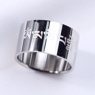 Titanium&Stainless Steel Fashion  Ring  (Steel color-7) NHIM1264-Steel-color-7's discount tags