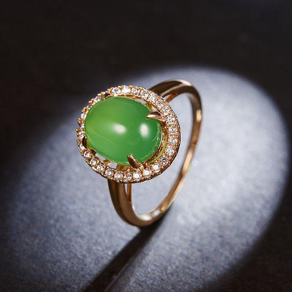 Alloy Vintage Geometric Ring  (Rose chlorite-16mm) NHLJ4071-Rose-chlorite-16mm