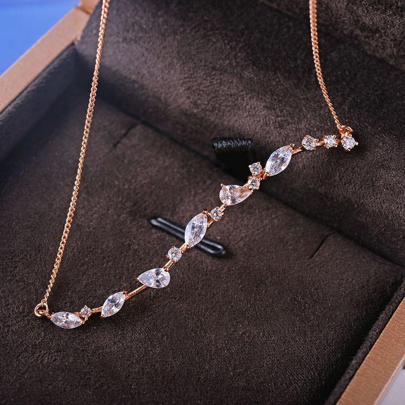 Alloy Korea Geometric necklace  Rose alloy NHLJ4083Rosealloy