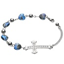 TitaniumStainless Steel Fashion Geometric bracelet  Steel color NHHF1011Steelcolor