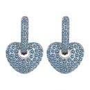 Boucles d39oreilles en cristal imit importes  Amour et Amour Platine + Couleur Blanc NHKSE28987