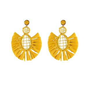 Plastic Simple Tassel earring  (yellow) NHJQ10681-yellow's discount tags