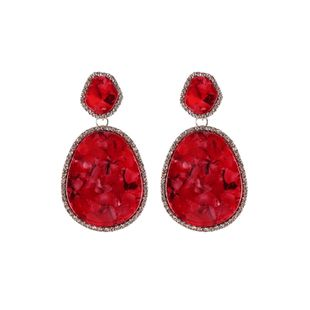 Imitated crystal&CZ Simple Geometric earring  (red) NHJQ10685-red's discount tags