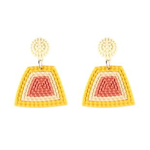 Plastic Fashion Geometric earring  (yellow) NHJQ10696-yellow's discount tags