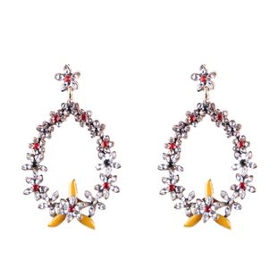 Alloy Bohemia Flowers earring  (yellow) NHJQ10699-yellow's discount tags