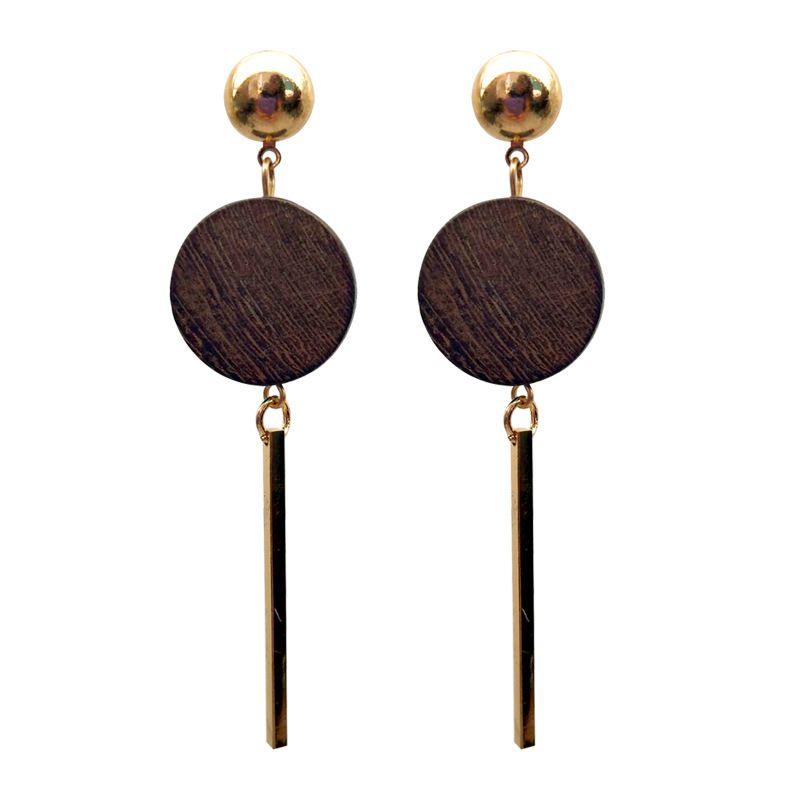 Alloy Fashion Geometric earring  Alloy + coffee color NHTF0734Alloycoffeecolor