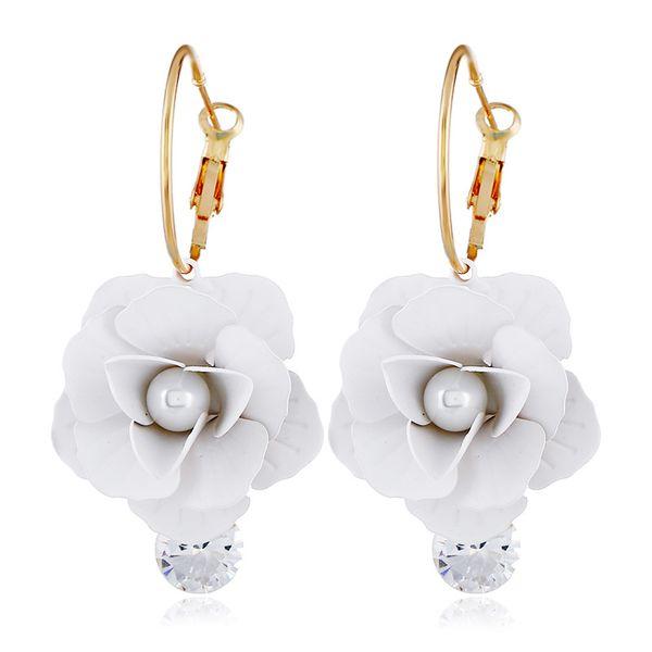 Alloy Fashion Flowers earring  (white) NHVA5105-white