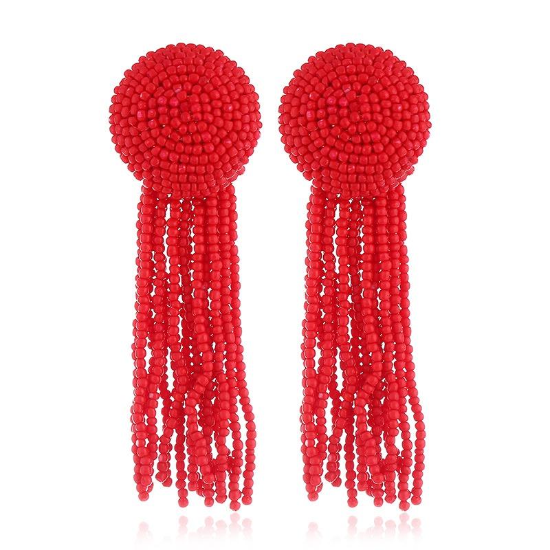 Alloy Fashion Tassel earring  (red) NHVA5107-red