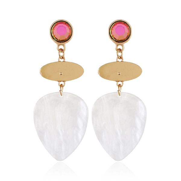 Alloy Fashion Geometric earring  (white) NHVA5110-white
