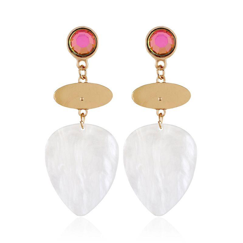 Alloy Fashion Geometric earring  (white) NHVA5110-white