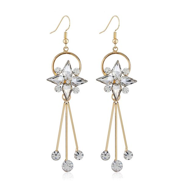 Alloy Fashion Geometric earring  (white) NHVA5113-white