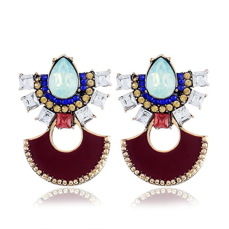 Alloy Fashion Geometric earring  (color) NHVA5115-color