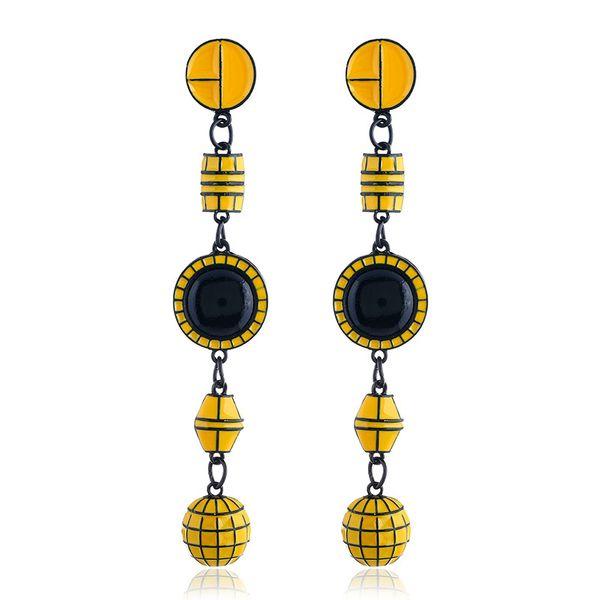Alloy Fashion Geometric earring  (yellow) NHVA5116-yellow