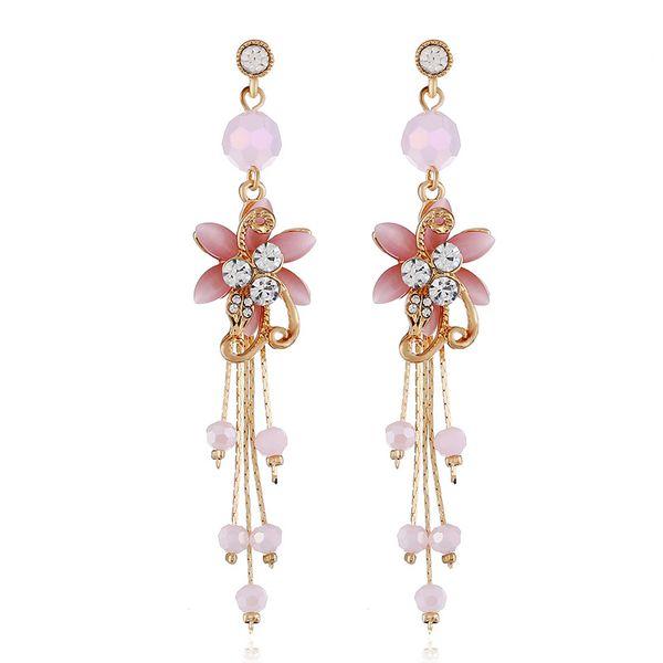Alloy Fashion Flowers earring  (white) NHVA5120-white