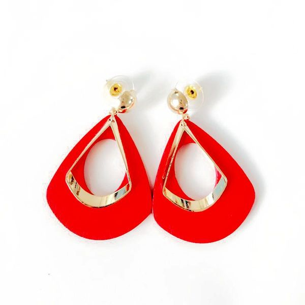 Alloy Fashion  earring  (red) NHOM0824-red