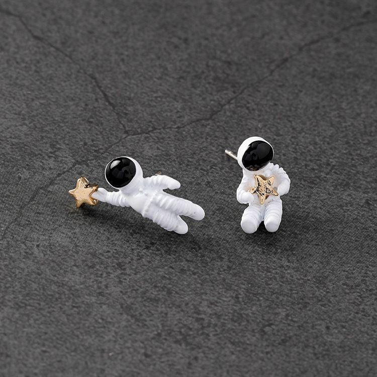 Alloy Korea Cartoon earring  (925 alloy needle) NHMS1270-925-alloy-needle