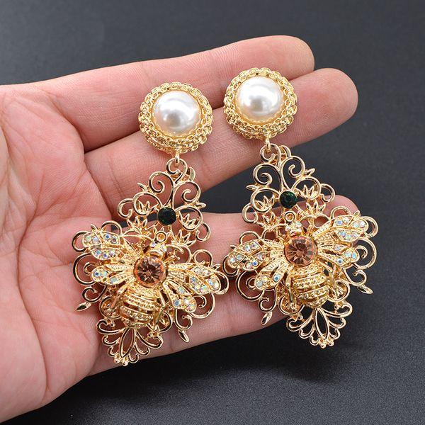 Beads Vintage Animal earring  (Alloy) NHNT0621-Alloy