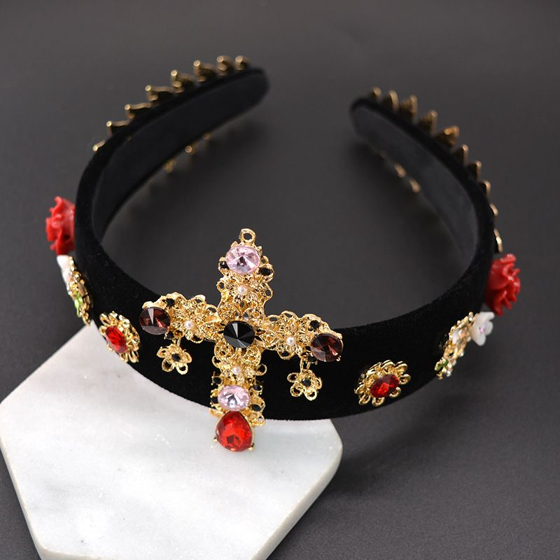 Alloy Vintage Flowers Hair accessories  (black) NHNT0625-black