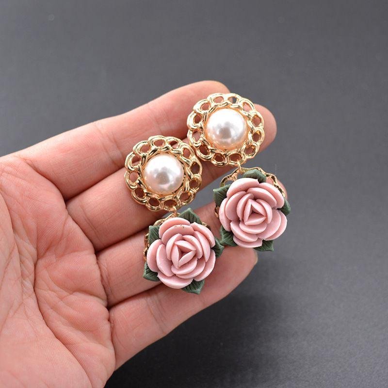Alloy Vintage Flowers earring  (Alloy) NHNT0627-Alloy