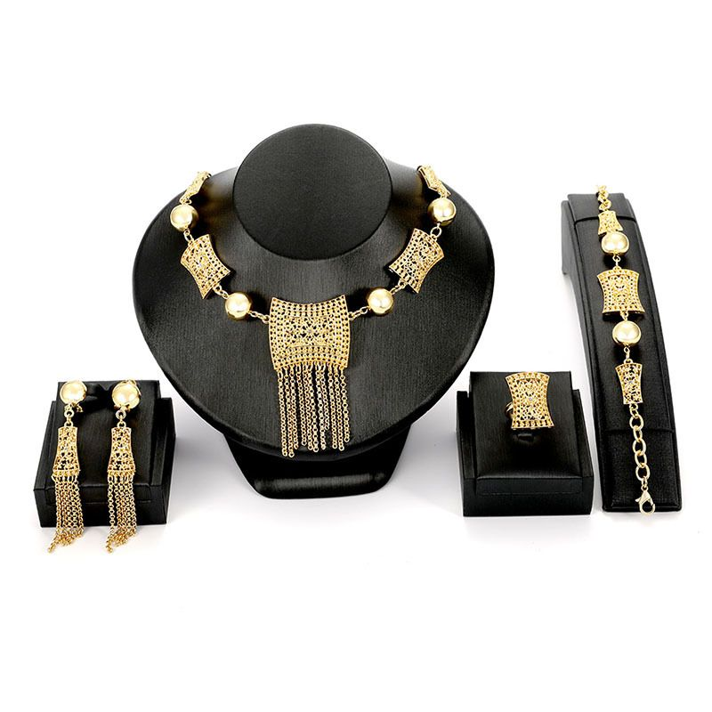 Alloy Fashion Tassel necklace  61174426 NHXS169661174426