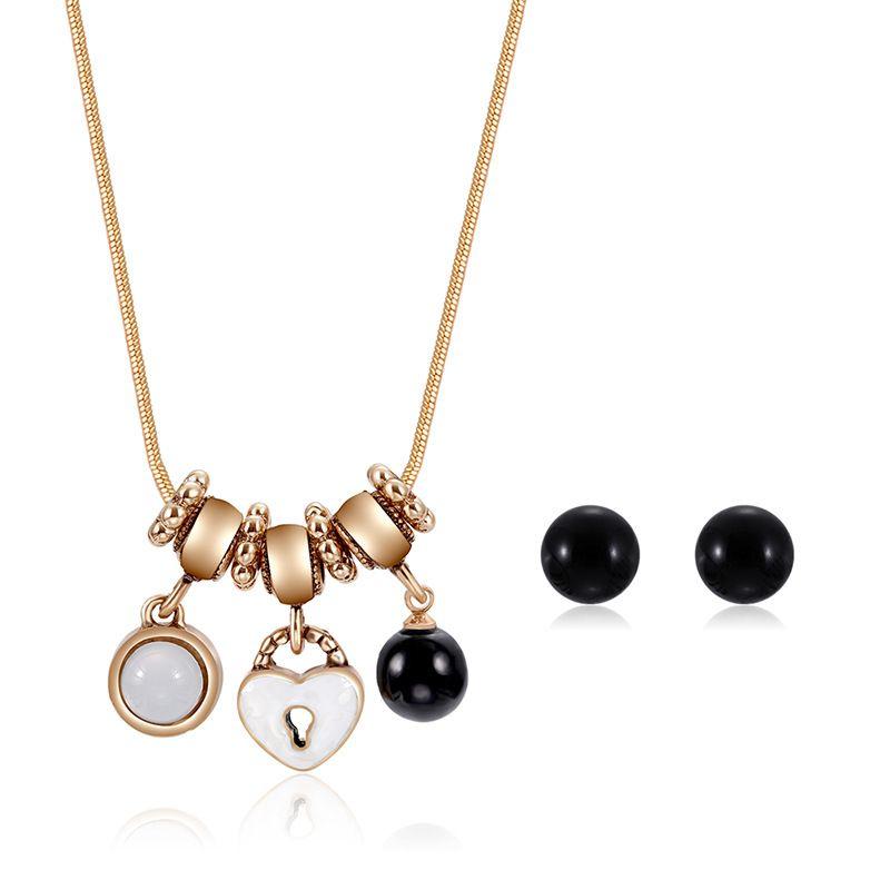 Alloy Korea  necklace  (61172427 alloy) NHXS1712-61172427-alloy
