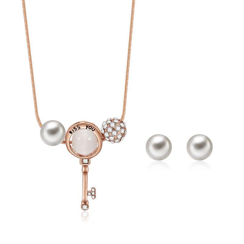 Alloy Korea  necklace  (61172428 alloy) NHXS1726-61172428-alloy