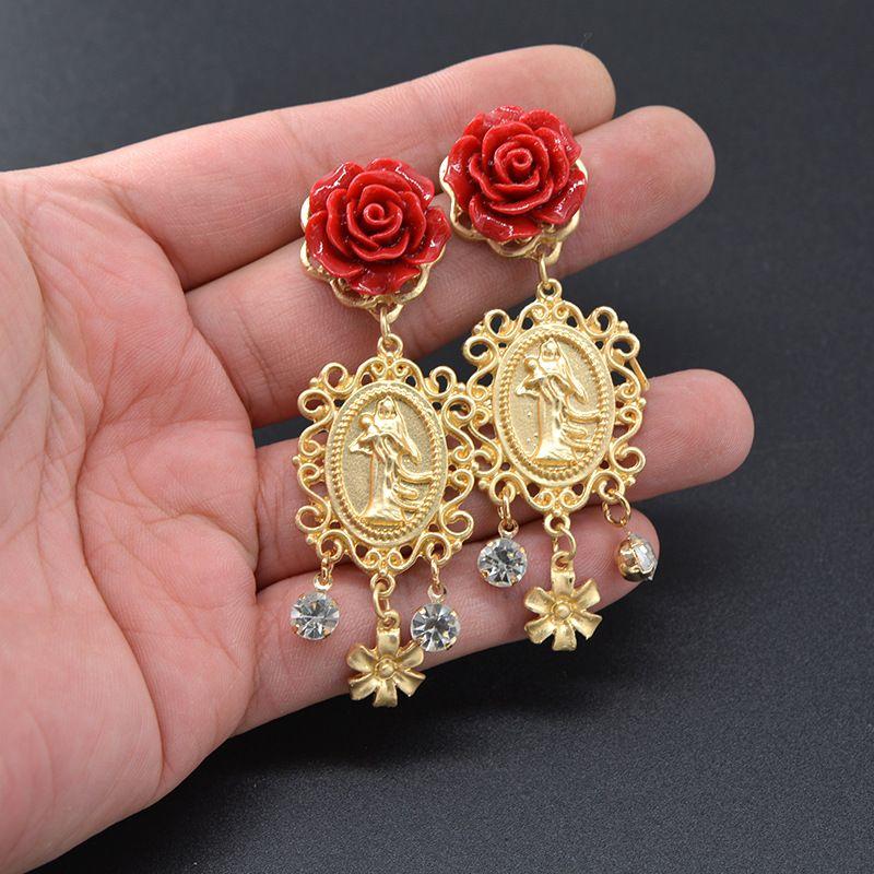 Alloy Bohemia Flowers earring  (Alloy) NHNT0642-Alloy