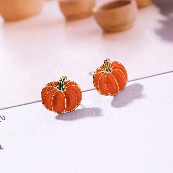 Alloy Korea Geometric earring  (A8101 Pumpkin) NHMS1335-A8101-Pumpkin