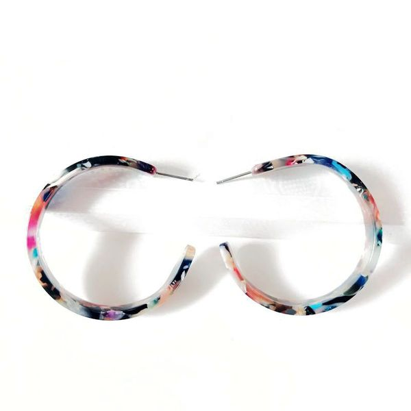 Plastic Fashion  earring  (Photo Color) NHOM0838-Photo-Color