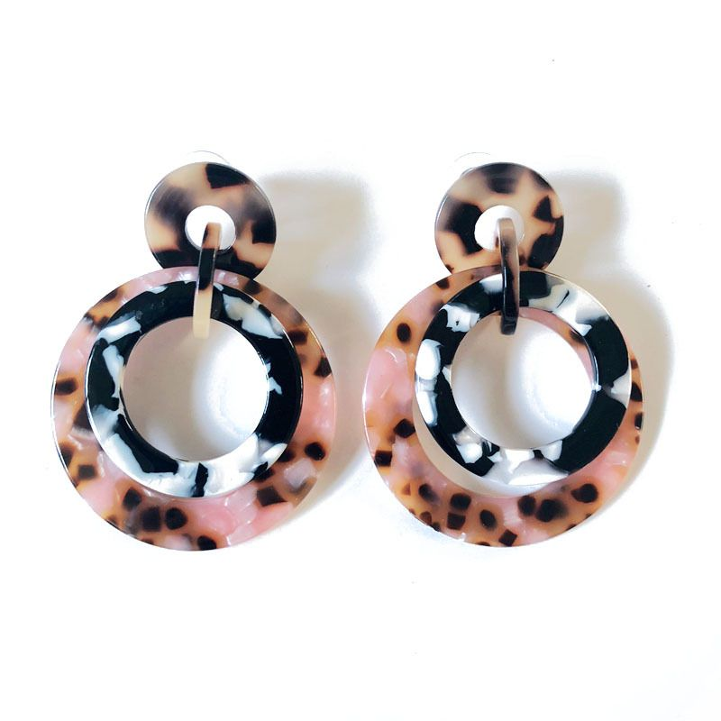 Plastic Fashion  earring  (Photo Color) NHOM0843-Photo-Color