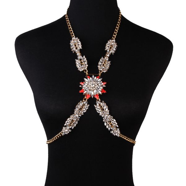 Alloy Fashion Flowers Body accessories  (red) NHJQ10653-red