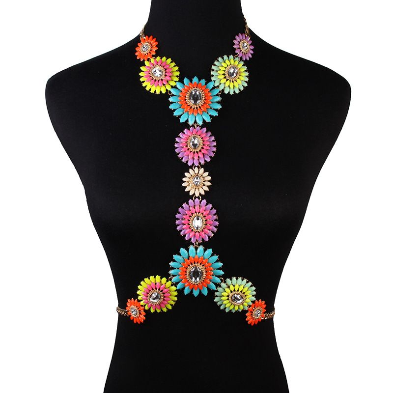 Alloy Fashion Flowers Body accessories  (color) NHJQ10655-color