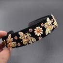 Alloy Bohemia Flowers Hair accessories  black NHNT0623black
