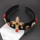 Alloy Vintage Flowers Hair accessories  black NHNT0625black