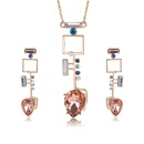 Alloy Bohemia  necklace  61172515 rose alloy NHXS167461172515rosealloy