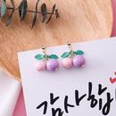 Alloy Korea Geometric earring  A orange + yellow NHMS1310Aorangeyellow
