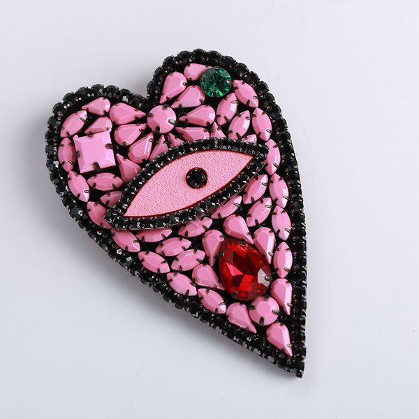Alloy Korea Geometric brooch  (Heart-shaped) NHTH0021-Heart-shaped