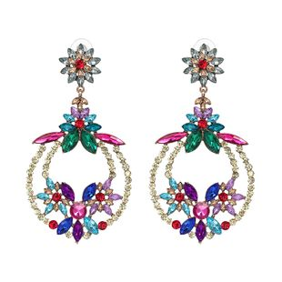 Imitated crystal&CZ Fashion Flowers earring  (51170) NHJJ5104-51170's discount tags