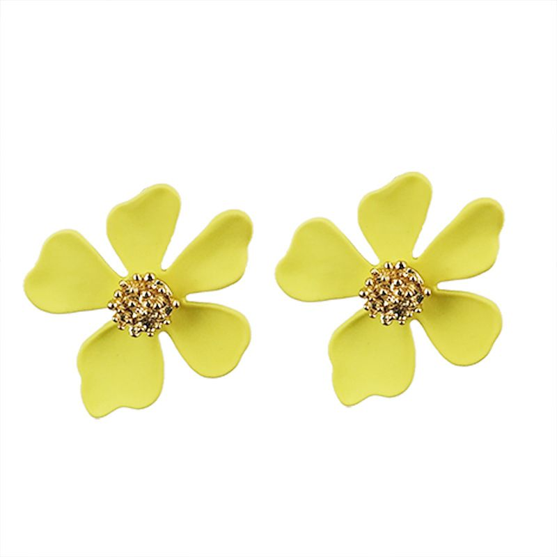 Alloy Simple Flowers earring  (KC alloyen yellow) NHKQ1911-KC-alloyen-yellow