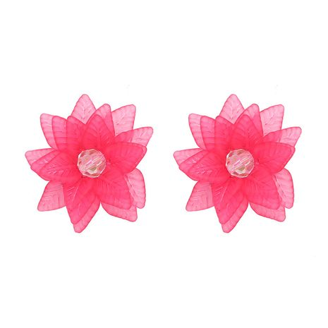 Plastic Fashion Flowers earring  (red) NHJJ5121-red's discount tags