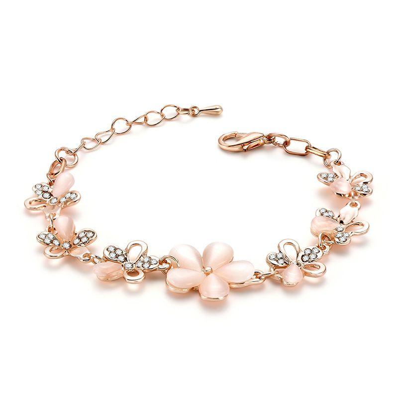 Alloy Simple Flowers bracelet  66186011 NHLP115566186011