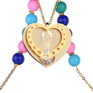Titanium&Stainless Steel Punk Sweetheart necklace  (Steel color) NHHF1026-Steel-color's discount tags