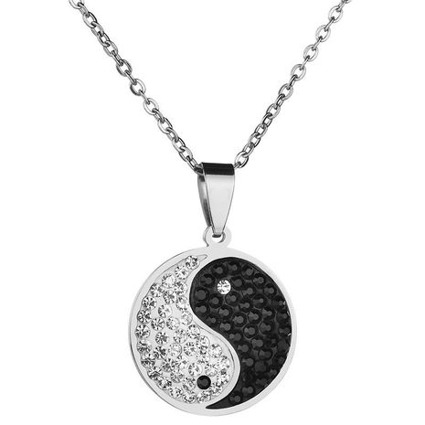 Titanium&Stainless Steel Bohemia Geometric necklace  (Steel color) NHHF1034-Steel-color's discount tags