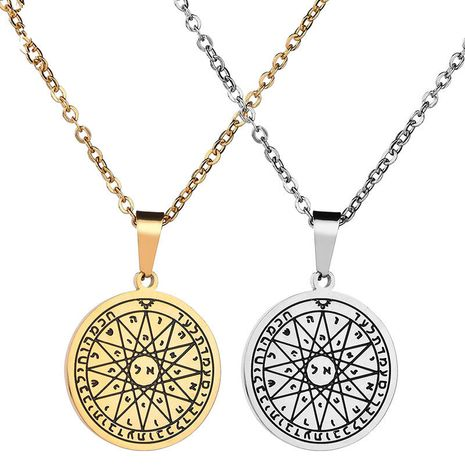 Titanium&Stainless Steel Fashion Geometric necklace  (Steel color) NHHF1041-Steel-color's discount tags