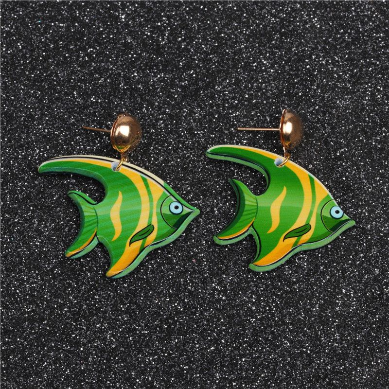 Alloy Fashion Animal earring  (Alloy eared fish) NHYL0228-Alloy-eared-fish