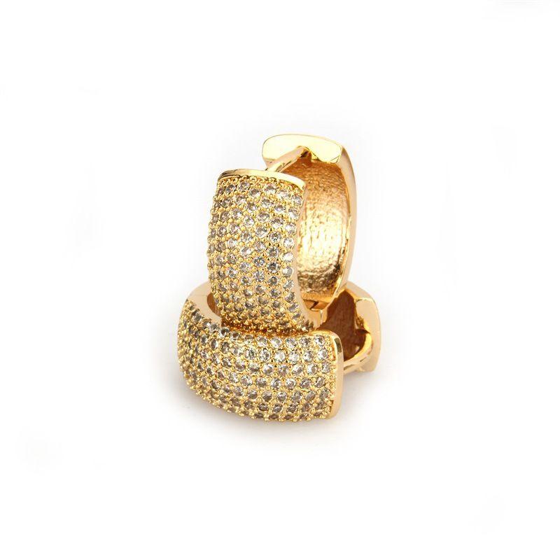 Copper Simple Geometric earring  Alloyplated white zirconium NHBP0085Alloyplatedwhitezirconium