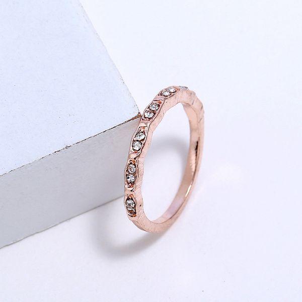 Alloy Korea Geometric Ring  (Rose Alloy-5) NHNZ0891-Rose-Alloy-5